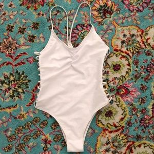 Other - White strappy one piece